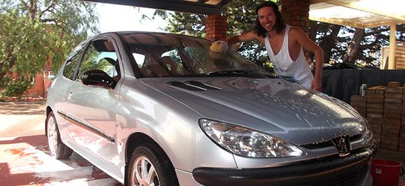 Work and travel in Australien - Carwash