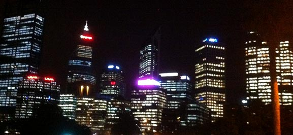 Work and travel in Australien - Perth by night